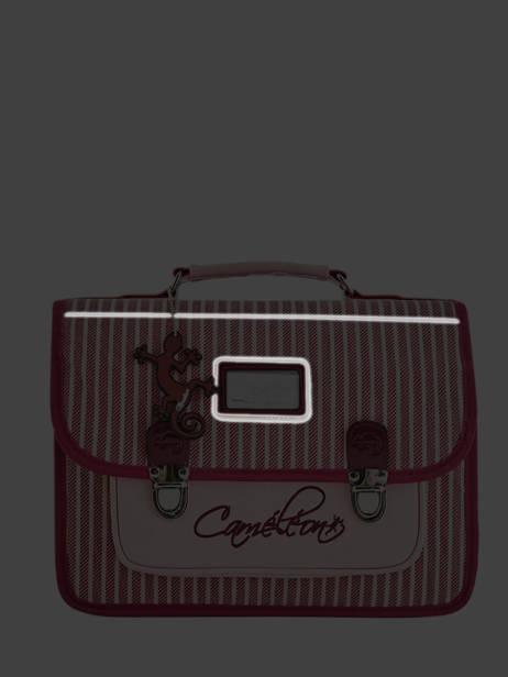 Cartable Enfant 2 Compartiments Cameleon Rose retro vinyl REV-CA35 vue secondaire 7
