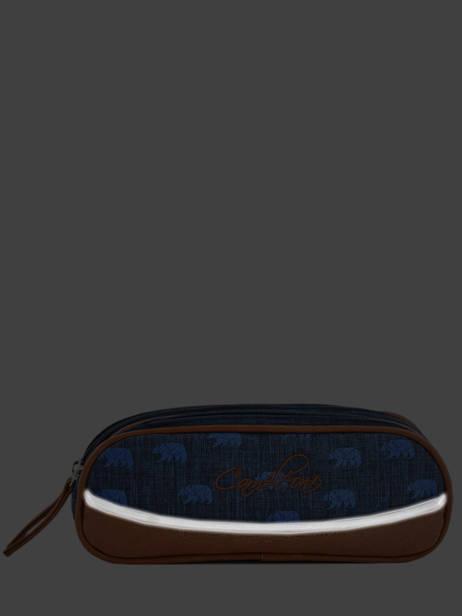 Trousse Garçon 2 Compartiments Cameleon Bleu vintage print boy VIB-TROU vue secondaire 4