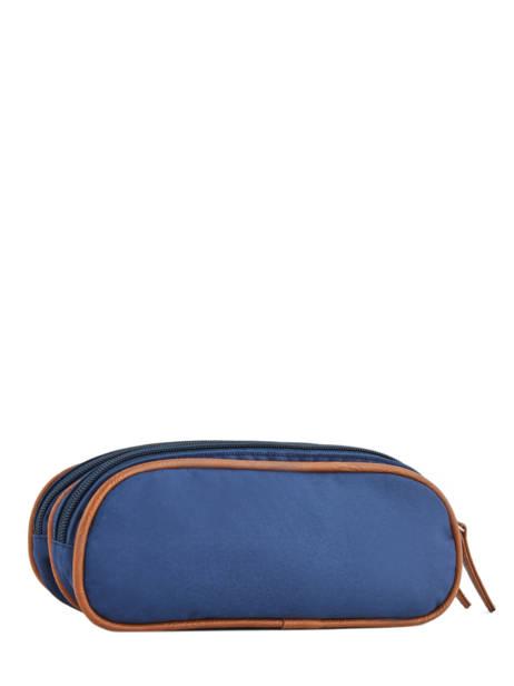 Pencil Case For Girls 2 Compartments Cameleon Blue vintage fantasy VIG-TROU other view 2