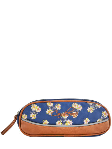 Pencil Case 2 Compartments Cameleon Blue vintage print girl VIG-TROU