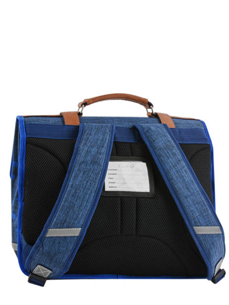 Satchel For Boys 2 Compartments Cameleon Blue vintage print boy VIB-CA35 other view 4