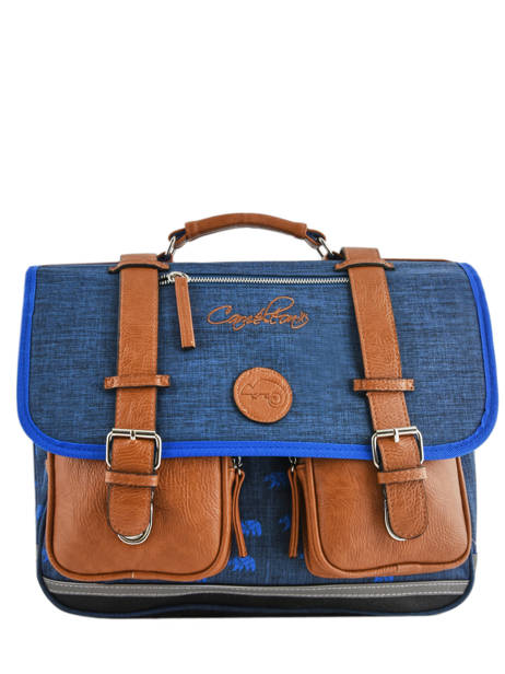 Satchel 2 Compartments Cameleon Blue vintage print boy VIB-CA38