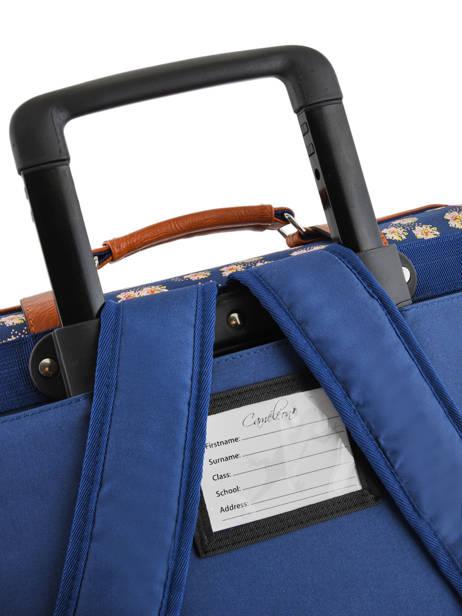 Cartable à Roulettes Fille 2 Compartiments Cameleon Bleu vintage print girl VIG-CR38 vue secondaire 2