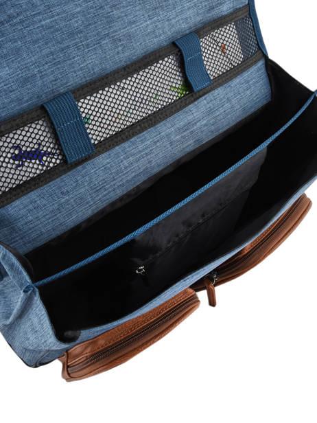 Cartable à Roulettes Fille 2 Compartiments Cameleon Bleu vintage print girl VIG-CR38 vue secondaire 7