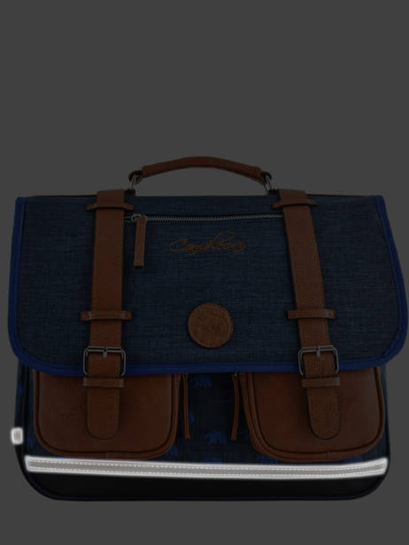 Satchel For Boys 2 Compartments Cameleon Blue vintage print boy VIB-CA35 other view 6