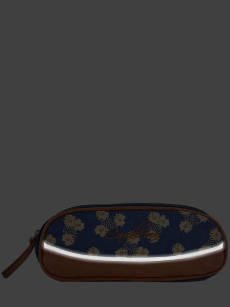 Pencil Case For Girls 2 Compartments Cameleon Blue vintage fantasy VIG-TROU other view 4