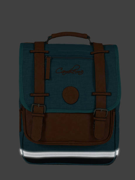 Backpack For Kids 2 Compartments Cameleon Blue vintage chine VIN-SD38 other view 5