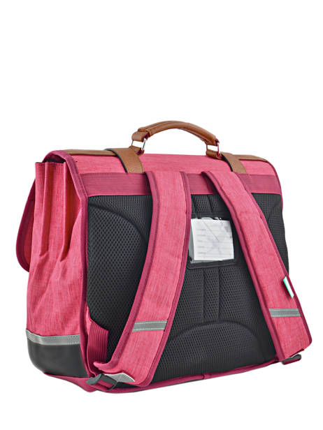 Satchel For Kids 3 Compartments Cameleon Pink vintage chine VIN-CA41 other view 3