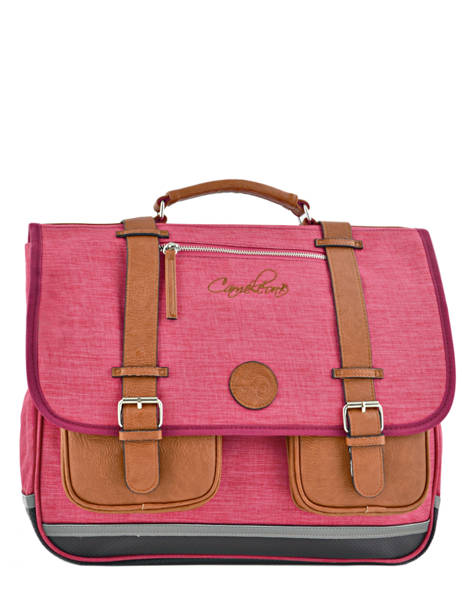 Satchel For Kids 3 Compartments Cameleon Pink vintage chine VIN-CA41