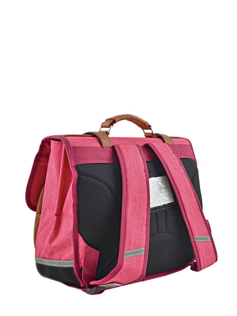 Cartable Enfant 2 Compartiments Cameleon Rose vintage chine VIN-CA35 vue secondaire 3