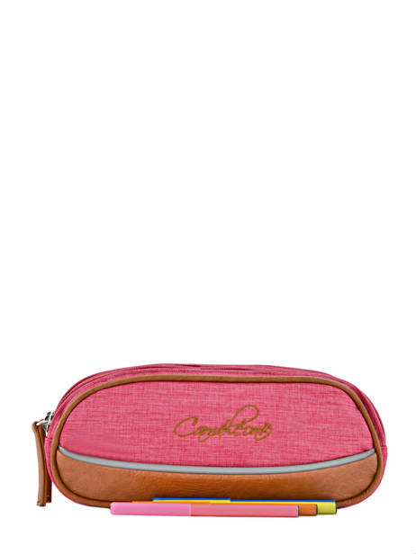 Pencil Case For Kids 2 Compartments Cameleon Pink vintage chine VIN-TROU other view 1