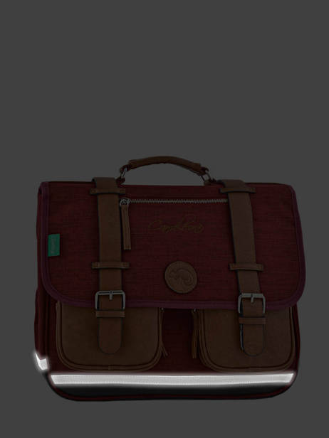 Satchel For Kids 2 Compartments Cameleon Red vintage chine VIN-CA38 other view 6