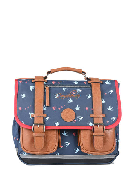 Cartable 2 Compartiments Cameleon Blue vintage print girl PBVGCA35