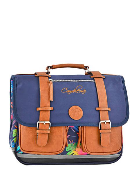 Cartable Fille 2 Compartiments Cameleon Bleu vintage print girl VIG-CA38