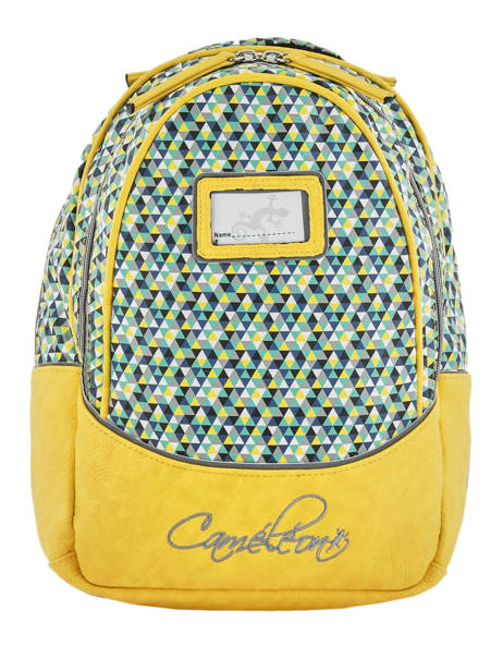 Backpack For Kids 2 Compartments Cameleon Yellow retro RET-SD31