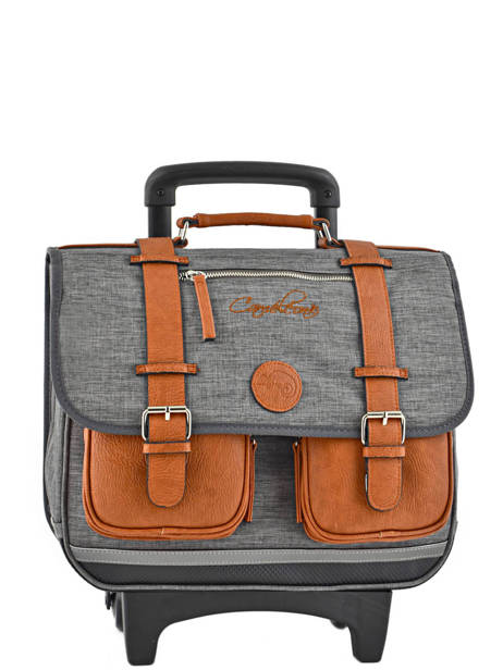 Wheeled Schoolbag For Kids 2 Compartments Cameleon Gray vintage chine VIN-CR38