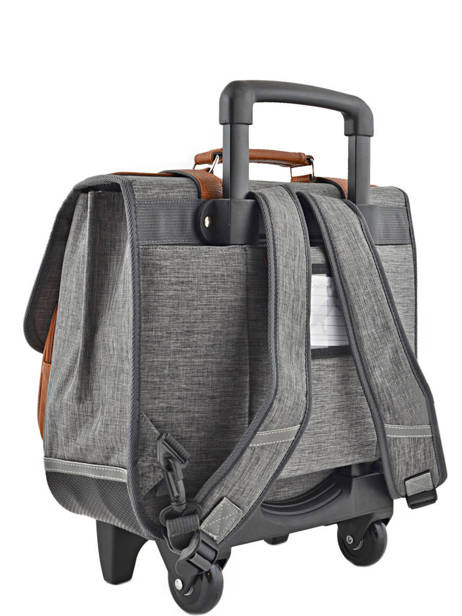Wheeled Schoolbag For Kids 2 Compartments Cameleon Gray vintage chine VIN-CR38 other view 3