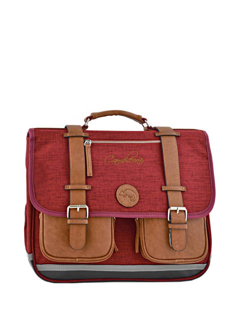 Satchel For Kids 2 Compartments Cameleon Red vintage chine VIN-CA38