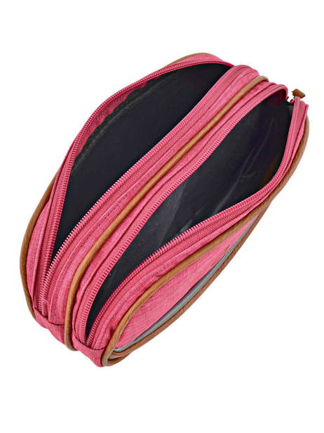 Pencil Case For Kids 2 Compartments Cameleon Pink vintage chine VIN-TROU other view 3