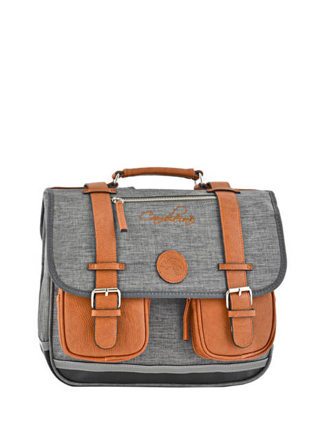 Satchel For Kids 2 Compartments Cameleon Gray vintage chine VIN-CA35