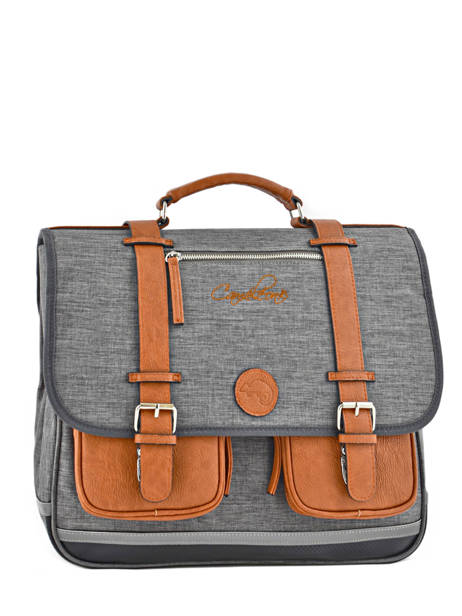 Satchel For Kids 3 Compartments Cameleon Gray vintage chine VIN-CA41