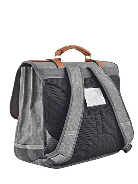 Satchel For Kids 3 Compartments Cameleon Gray vintage chine VIN-CA41 other view 3