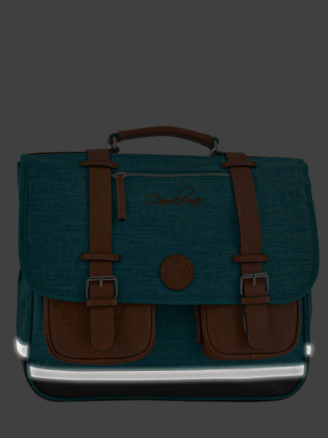 Satchel For Kids 2 Compartments Cameleon Blue vintage chine VIN-CA38 other view 6