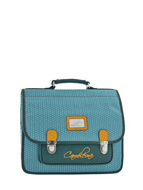 Satchel For Kids 2 Compartments Cameleon Black retro RET-CA35