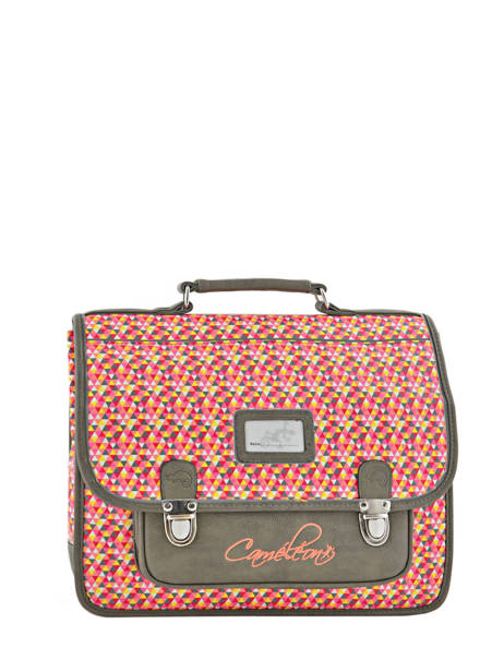 Cartable Enfant 2 Compartiments Cameleon Gris retro RET-CA35