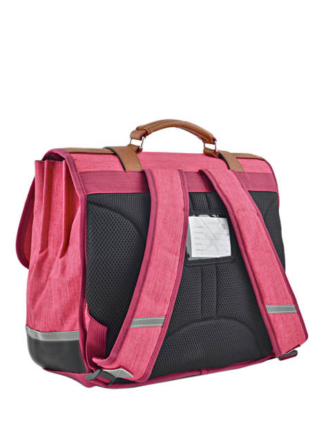 Cartable Enfant 3 Compartiments Cameleon Rose vintage chine VIN-CA41 vue secondaire 4
