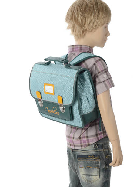 Satchel For Kids 1 Compartment Cameleon Blue retro RET-CA32 other view 2
