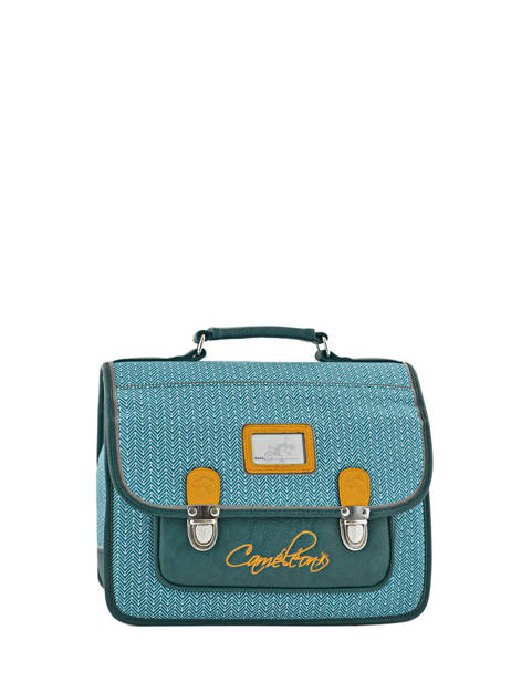 Cartable Enfant 1 Compartiment Cameleon Bleu retro RET-CA32