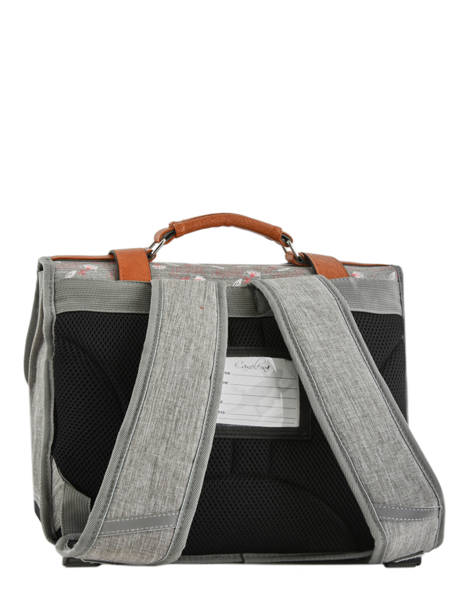 Wheeled Schoolbag For Girls 2 Compartments Cameleon Gray vintage fantasy PBVGCA38 other view 4