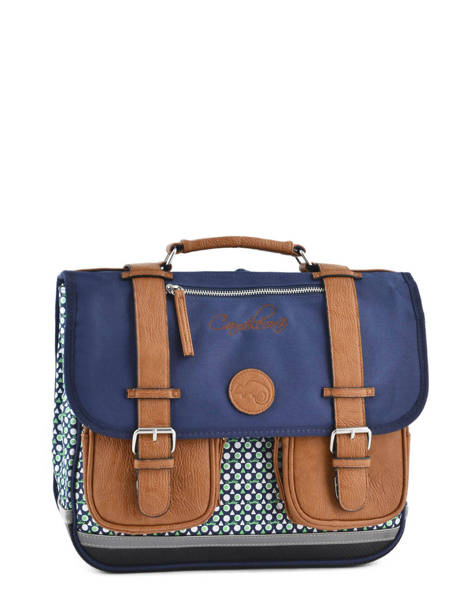 Cartable 2 Compartiments Cameleon Blue vintage print boy PBVBCA35