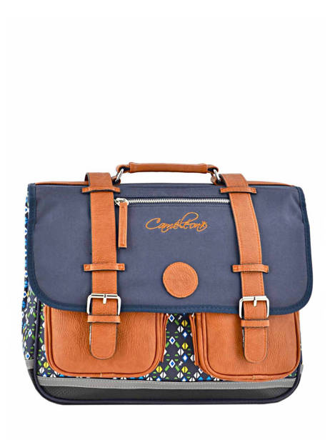 Cartable 2 Compartiments Cameleon Blue vintage print boy PBVBCA38