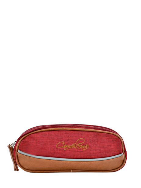 Trousse 2 Compartiments Cameleon Red vintage chine PBVNTROU