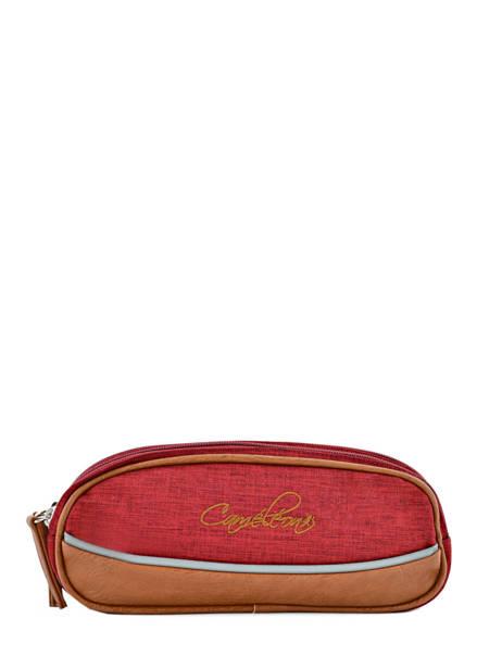 Trousse 2 Compartiments Cameleon Rouge vintage chine PBVNTROU