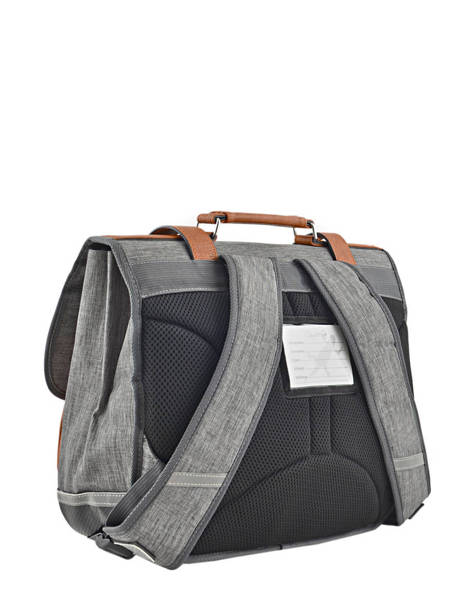 Satchel 2 Compartments Cameleon Gray vintage chine PBVNCA35 other view 3