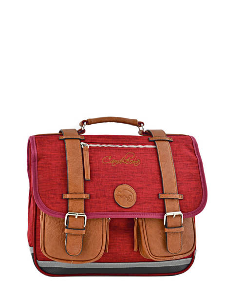 Cartable 2 Compartiments Cameleon Red vintage chine PBVNCA35
