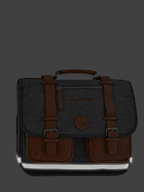 Satchel 2 Compartments Cameleon Gray vintage chine PBVNCA35 other view 5