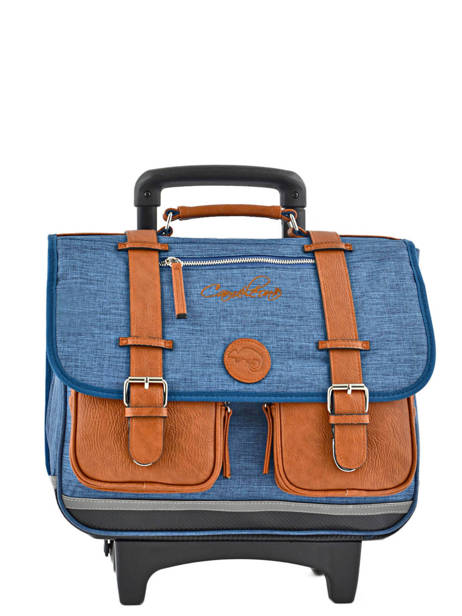 Cartable A Roulettes 2 Compartiments Cameleon Blue vintage chine PBVNCR38