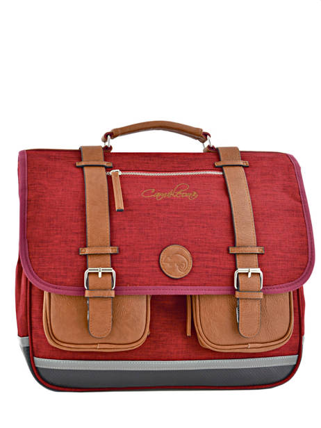 Cartable 3 Compartiments Cameleon Red vintage chine PBVNCA41