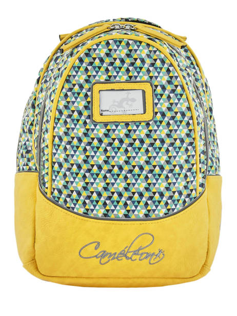Sac A Dos 2 Compartiments Cameleon Yellow retro PBRESD31