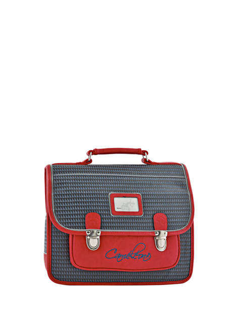 Cartable 1 Compartiment Cameleon Red retro PBRECA32