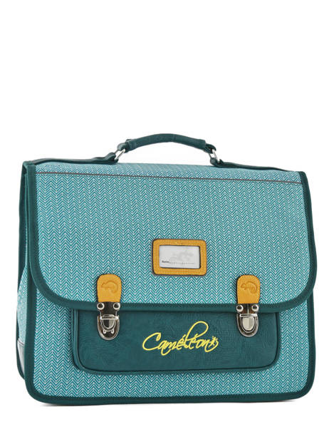 Cartable 2 Compartiments Cameleon Blue retro PBRECA38