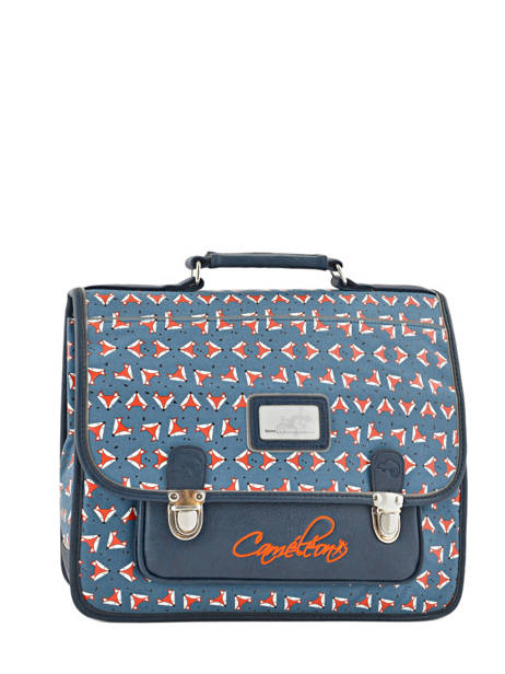Cartable 2 Compartiments Cameleon Blue retro PBRECA35