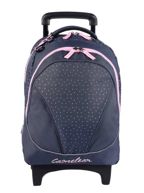 Wheeled Backpack 2 Compartments Cameleon Blue basic PBBASR43