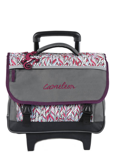 Cartable A Roulettes 2 Compartiments Cameleon Gray basic PBBACR38