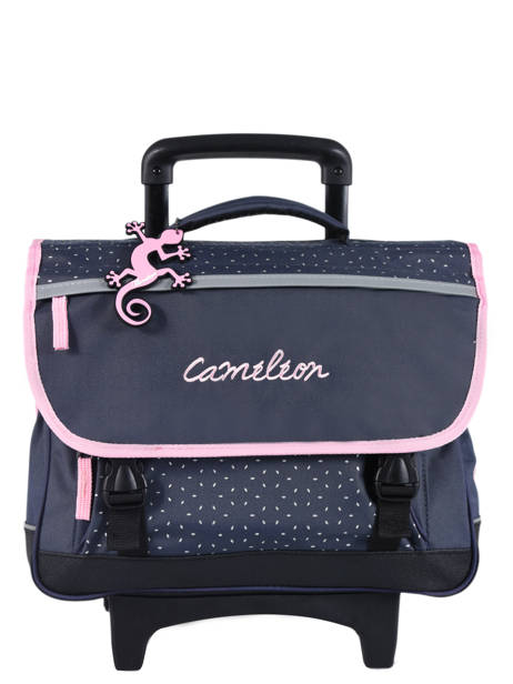 Cartable A Roulettes 2 Compartiments Cameleon Blue basic PBBACR38
