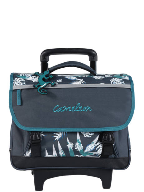 Cartable A Roulettes 2 Compartiments Cameleon Bleu basic PBBACR38